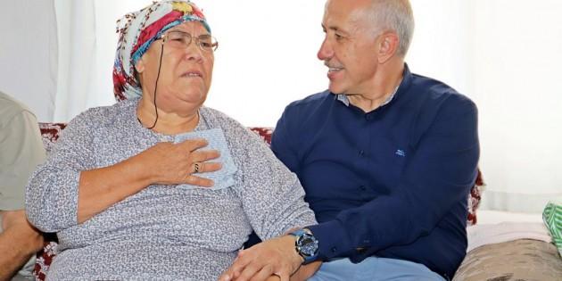 Başkan Gültak'tan şehit ailesi ve gaziye vefa ziyareti
