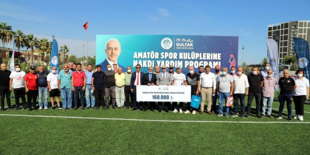 Akdeniz Belediyesinden amatör spor kulüplerine 160 bin TL yardım