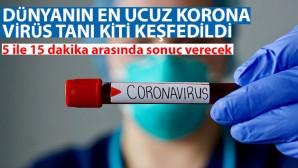 Dünyanın en ucuz korona virüs tanı kiti keşfedildi