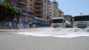Mezitli'de korona virüsle mücadele çalışmaları sürüyor
