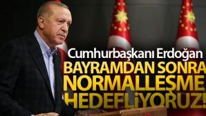 Cumhurbaşkanı Erdoğan: 'Salgını yatay seyre geçirmeye başladığımızı görüyoruz'
