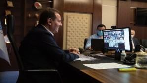 Başkan Seçer, ilçe belediye başkanlarıyla video konferansla görüştü