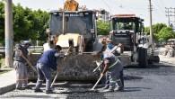 Tarsus'ta bozulan yollar onarılıyor