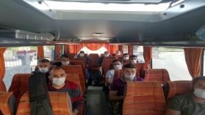 Mersin'de karantina süresi dolanlar memleketlerine gönderildi