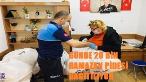 Akdeniz Belediyesinden vatandaşlara Ramazan pidesi