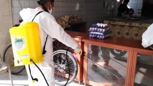 Toroslar'da dezenfekte işlemleri sokağa çıkma yasağında da sürüyor