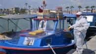 Balıkçı tekneleri ilaçlandı