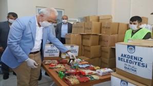 Akdeniz Belediyesinden ihtiyaç sahiplerine Ramazan kolisi desteği