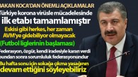 Bakan Koca: 'Türkiye korona virüsle mücadelesinde ilk etabı tamamlamıştır'