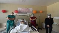 Şehir Hastanesi'nde tedavi gören hastadan pankartlı teşekkür
