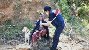 Anamur'da kaybolan kadın ormanlık alanda bulundu