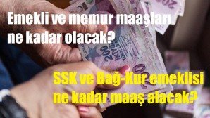 SSK, Bağkur emeklileri ile memur emeklisi maaşları…