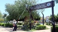 Akdeniz'de park ve yeşil alanlar ilaçlanıyor