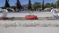 Mersin Büyükşehir Belediyesi, atık lastiklerle Mut'u süsledi