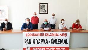 Tabip Odası: Mersin'deki vakaların sayısına ulaşamıyoruz
