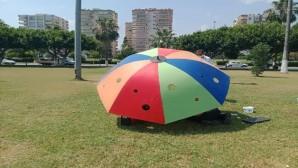 Büyükşehir Belediyesinden kedi ve köpeklere şemsiye