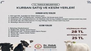 Tarsus'ta kurbanlık fiyatları belirlendi