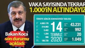 Bakan Koca: 'Tekrar 1.000'in altındayız'