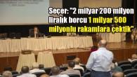 Başkan Seçer'den borç açıklaması