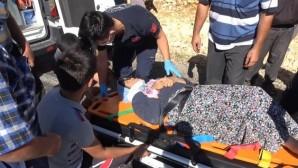Yola dökülen mazot kazaya neden oldu: 2 yaralı