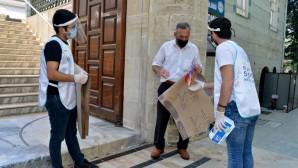 Yenişehir Belediyesinden namaz öncesi seccade ve maske