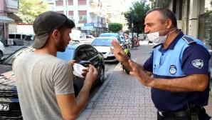 Akdeniz zabıtası, maske takmayanları uyardı