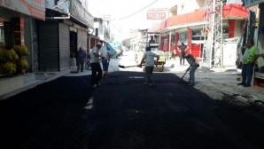 Akdeniz'de asfaltlama sürüyor