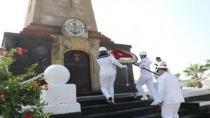 Ertuğrul Firkateyni'nde şehit olan 587 denizci Mersin'de anıldı