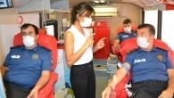 Bozyazı'da polisler kan bağışında bulundu