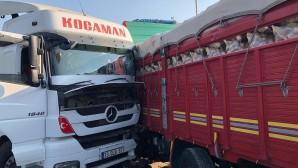Kamyona çarpan TIR'ın sürücüsü öldü