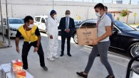 Başkan Bozdoğan'dan sağlık çalışanlarına N95 maske, siperlik ve vitamin desteği