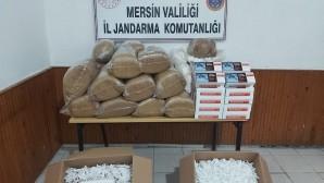 102.5 kilo tütün ve 31 bin makaron ele geçirildi