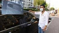 32 dakikada dinlene dinlene arabayı parçaladı