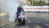 Mersin'de kask etkinliği renkli görüntülere sahne oldu