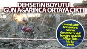 Ermenistan'ın saldırdığı Gence'de meydana gelen hasar gün ağarınca ortaya çıktı