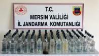 Mersin'de 103 litre sahte içki ele geçirildi
