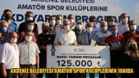 34 amatör spor kulübüne 125 bin TL destek