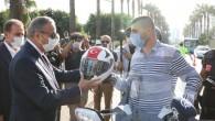 Mersin'de 'Ben de Kaskımı Takıyorum' kampanyası başladı