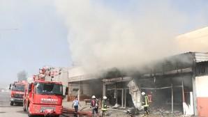 Tırmıl Sanayi Sitesi'nde çıkan yangın korkuttu