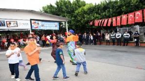 Tarsus'ta lösemi hastası çocuklara moral etkinliği