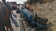 Tarsus'ta otomobil takla attı: 6 yaralı