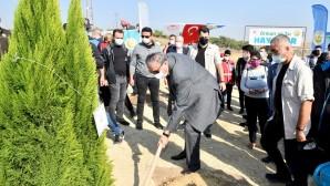 Mersin'de fidanlar toprakla buluştu