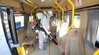 Mezitli Belediyesi, toplu taşıma araçlarında dezenfeksiyonu yoğunlaştırdı