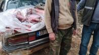 Kaçak keçi avcıları suçüstü yakalandı