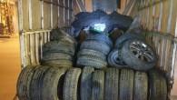 600 bin TL'lik lastik çalan hırsızlar yakalandı