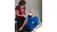 MEÜ Tıp Fakültesi'nde ilk aşı Rektör Çamsarı'ya