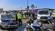 Dört araç birbirine girdi: 1 yaralı