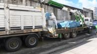 Yenişehir'de yıkılacak binadan 20 ton asbestli malzeme söküldü