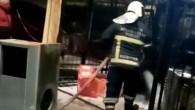 Yangında iş yeri kül oldu
