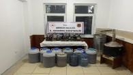 Mersin'de 374 litre kaçak içki ele geçirildi